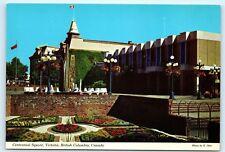 Victoria BC Canada Centennial Square Fountain 4x6 Postcard A43