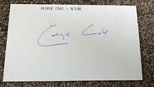 Actor George Cole Signed Card