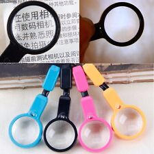 1x Handheld Magnifier Reading Magnifying Glass Jewelry Loupe With LED Light New
