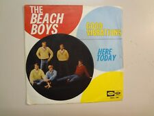 """BEACH BOYS: Good Vibrations 3:35- Here Today-Italy 7"""" 66 Capitol EMI QCL 191 PSL"""
