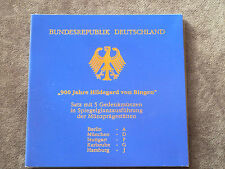 "5 x 10 dm monedas conmemorativas-set"" 900 años Hildegard von Bingen ""pp Proof"