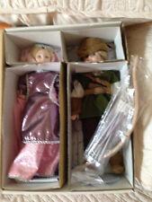 "Danbury Mint Porcelain Storybook Pairs ""Robin Hood and Maid Marian"" w/Box & Coa"
