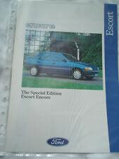 Ford Escort Encore brochure Jun 1991