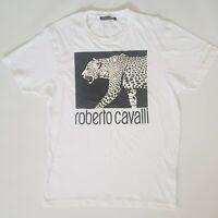 Roberto Cavalli Tshirt White Size Large Top Designer