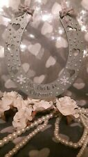 Christmas Wedding . wedding Wooden horseshoe diamante Keepsake For The Bride