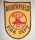 """Northfield Fire Dept Patch - vintage - Cheesecloth back - 4"""" x 5 3/4"""""""