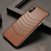 iPhone 11 XI PRO MAX X XS XR 7 8 Plus GENUINE REAL LEATHER Case Back Cover Skin
