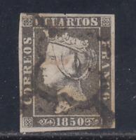 ESPAÑA (1850) USADO SPAIN - EDIFIL 1 (6 cu) ISABEL II - LOTE 2