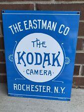 Large 18� Kodak Camera Gas Oil Advertising Heavy Porcelain Sign