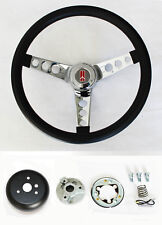 NEW! 1969-1993 Cutlass F85 98 442 Grant Steering Wheel Black & Chrome 13 1/2""
