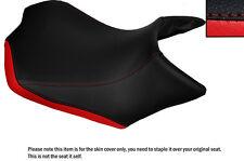 Brillante Rojo Y Negro Custom Fits Yamaha Mt 125 14-16 Frontal De Cuero Funda De Asiento