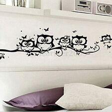 Home Decor Removable Art Vinyl Decal Owl Cartoon Wall Sticker Nursery Kids Room