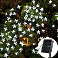 50 lumières LED chaîne énergie solaire fleur fée jardin fête en plein air mar D1