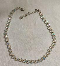 8daf28ae2c1a Joyas Vintage tammey en tono dorado de Metal Perla de Cristal Facetado  Aurora boreal 19