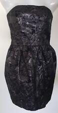 FOREVER NEW Ladies Dress Sz 10 Strapless Black Grey Metallic Mini Clubbing