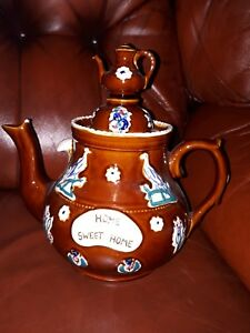 BARGE WARE-HOME SWEET HOME-TEA POT. .10 x inches high