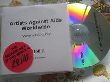 Artists Against AIDS Worldwide – What's Going On COLUMBIA CDr UK Promo CD Single