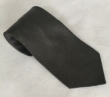 Nautica Black and Grey Striped 100% Silk Tie