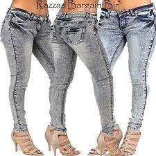 New Ladies Stretch Denim Skinny Leg Jeans Plus Size 16 18 & 20 (9537)IH