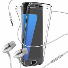 Phone Case Cover✔Gel Front+Back✔Full Body All Round Protection✔in Ear Headphones