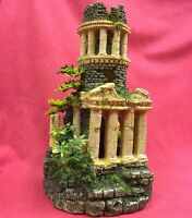 Fish Ornament Ancient Roman Ruin 11x6 inch Shelter Hide Aquarium Tank Decoration