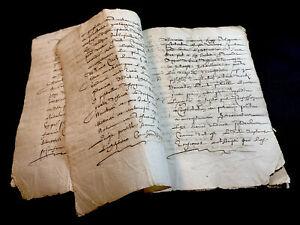 1638 ANTIQUE MANUSCRIPT - 12 pages