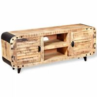 TV Stand Entertainment Center Lowboard Farmhouse Console Storage Wood Cabinet