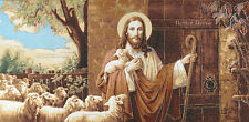 WALL JACQUARD WOVEN TAPESTRY Good Shepherd JESUS CHRIST RELIGIOUS PICTURE