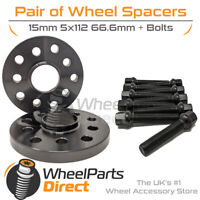 Spacers & Bolts 15mm for Merc GLE Coupe 63S AMG C292 15-19 On Original Wheels