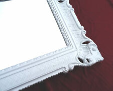 Espejo de pared antiguo Barroco ROCOCO rectangular 90x70 Decoración Repro PLATA