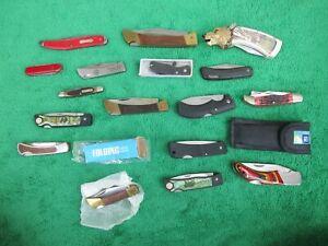 Lot 17 Folding Knives Gerber Frost Sabre Old Timer S & W Franklin Mint Kershaw