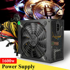 1600W 6 GPU Graphics Card Mining Power Supply For Eth Rig Ethereum Coin Miner US