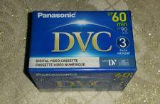 Lot of 3 Panasonic DVC MiniDV Tapes AY-DVM60EJ3P - Made in Japan