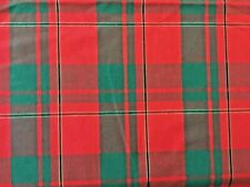 "Christmas Red Green Plaid Craft Sewing Fabric Material 64"" Wide 3 Yards"