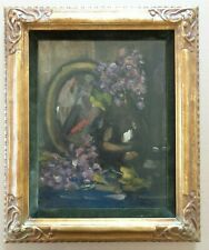 HERMAN COURTENS (1884-1956) / BLOEMENVAAS / OLIEVERF PANEEL / 46x38cm KADER SIG