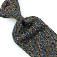Missoni Tie Italy Micro Geometric Woven Necktie Multicolor Luxe Silk Ties L1 New