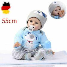 55cm Lebensecht Baby Puppe Reborn Handgefertigt Weich Silikon-Vinyl Junge DHL DE