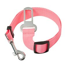 2 Pink Dog Car Safety Belts Adjustable Safety Restraint Travel Harness Collars