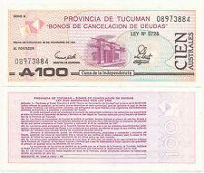 ARGENTINA TUCUMAN A 100 S-2715 UNC 20000 PCS CAT PR $1.- each