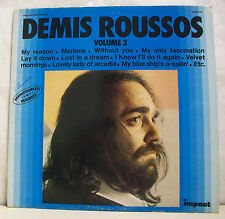"33 tours DEMIS ROUSSOS Disque Vinyle LP 12"" MY REASON Vol 3 - IMPACT 6886205 EX"