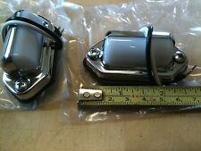 Mini Chrom License Plate Light, Trailers, Truck, RV Exterior Light - 2 pack