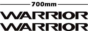 mitsubishi L200 pair of warrior door stickers/decals in any colour 700 x 64mm