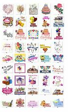 30 Personalized Happy Birthday Wishes Address labels Buy 3 get 1 free {HB1}