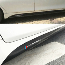 1Pair Car 5D Side Skirt Sticker Decal Carbon Fiber Look Fit For Bmw 3 4 5 Series