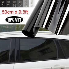50x300cm Car Window Tint Film(15%)Black For Car Windows Glass Sun-Shade Stickers
