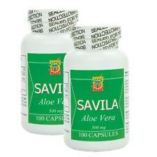 Capsulas de Savila 500mg. Set de 2 frascos con 100 capsulas c/u. Dura 3 meses.