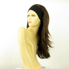 headband wig long chocolate copper wick BENEDICTE 6H30