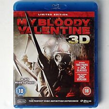 My Bloody Valentine 3D + 2D (Limited Ed. Blu-ray, 2009 Lionsgate) + 3D Glasses