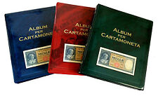 [NC] ABAFIL - ALBUM PAPER MONEY COMPLETO DI 15 TASCHE ASSORTITE
