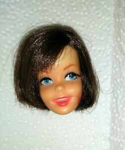 Vintage Brunette Francie Casey Barbie Doll Head TLC AS IS